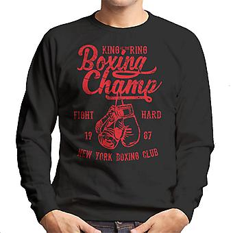 King Of The Ring Boxing Champ Men's Sweatshirt