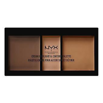 NYX PROF. MAKEUP Crème Surlignement et Contour Palette Deep