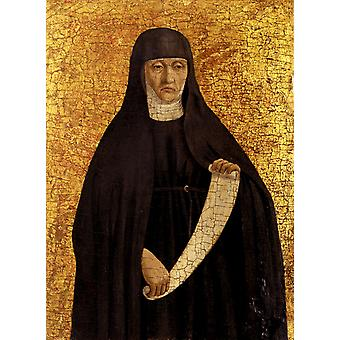 Augustinian Nun, Piero Della Francesca, 50x40cm