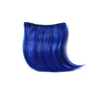 TRIXES Clip in Fringe haar pony Wig extensie - Beauty Styling accessoire - elektrische blauwe kleur