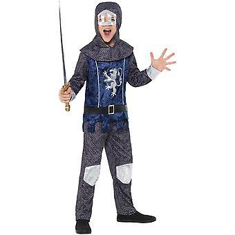 Knight dreng barn kostume ringbrynje optik karneval af middelalderlig ridder dreng kostume