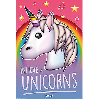 Emoji Unicorn Poster