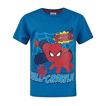 Ultimate Spider-Man muur Crawler Boy's T-Shirt blauw