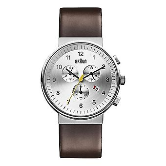 Braun men's Quartz Analog leather strap BN0035SLBRG