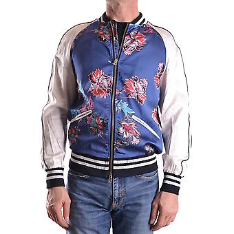 Daniele Alessandrini Ezbc107014 Men's Blue Acetate Outerwear Jacket