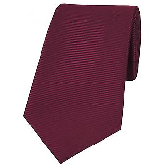 David Van Hagen orizzontale a costine poliestere cravatta - prugna