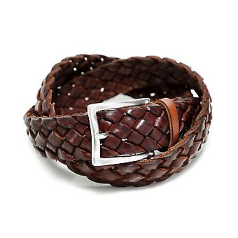 Gavazzeni Wide Woven Leather Belt