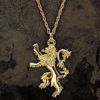 Gold Plated Sterling Silver Game of Thrones Lannister Pendant