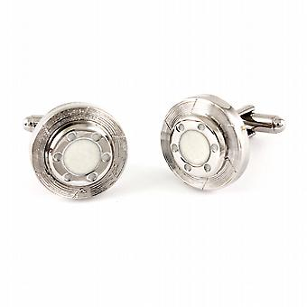 Car Brake Disc Chrome Cufflinks in gift box