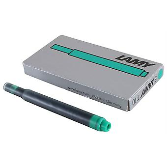 Lamy T 10 Giant Foundation Pen Ink Cartridge 5 Pack - Green