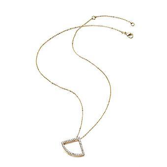 Kaytie Wu Gold Plated Fan Necklace with Swarovski Crystals  28053