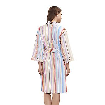 Féraud 3191333-16397 Damska's High Class Multicolour Stripe Cotton Robe Lounge Lounge Szlafrok kąpielowy