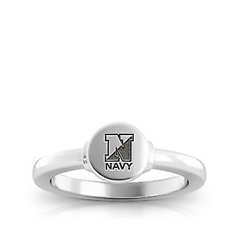 US Navy Engraved Sterling Silver Signet Ring
