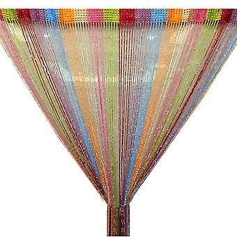 TRIXES String Dew Drop String Curtain -Glitter Thread Multicoloured - Door or Window Panel 90 x 200cm