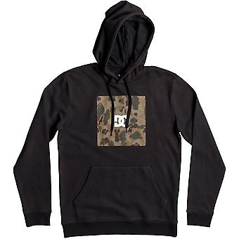 DC Square Boxing Pullover Hoody in Black