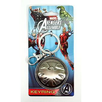 Metal Key Chain - Marvel - Avengers Eagle Logo Pewter New Toys New 67886