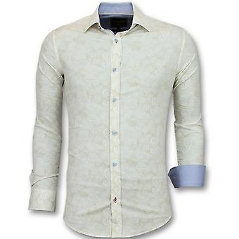 Shirts - With Print - Beige
