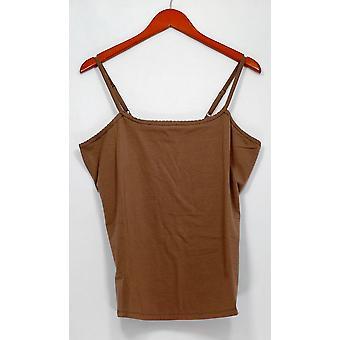 Liz Claiborne New York Top Essentials Scoop Neck Brown A231828