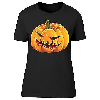 Sinister Halloween Pumpkin Tee Women's -Image by Shutterstock