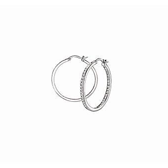 s.Oliver Jewel Women's Earrings Hoops Silver Zirconia 2026063