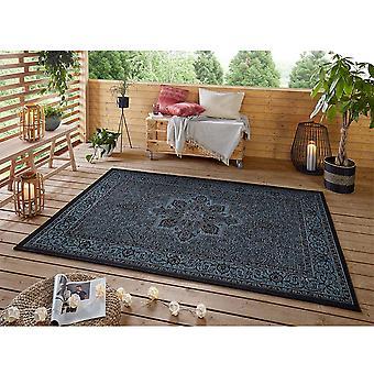 Design Indoor and Outdoor Rug Anjara Azure Blue Anthracite