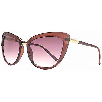 Lipsy London Cat Eye Sunglasses - Oxblood Red