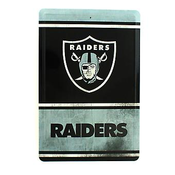 Oakland Raiders NFL Team Logo Tin Sign