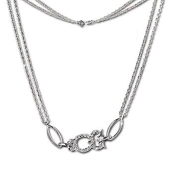SilberDream silver silver necklace Sterling 925 44 -0 cm white VSDK424W