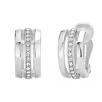 Reiziger clip Earring-rhodium plated-Swarovski kristallen-157082