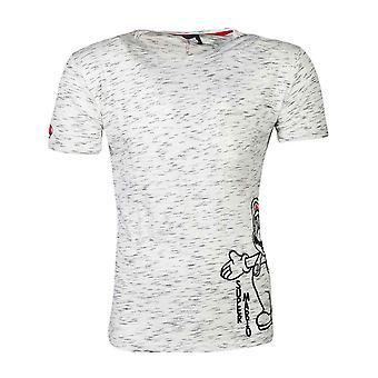 Super Mario T Shirt Space Dye Logo neue offizielle Herren grau
