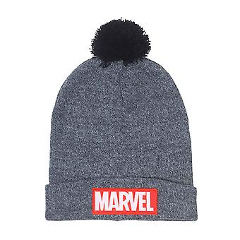 Marvel Beanie Hat classic Logo bobble new Official Grey