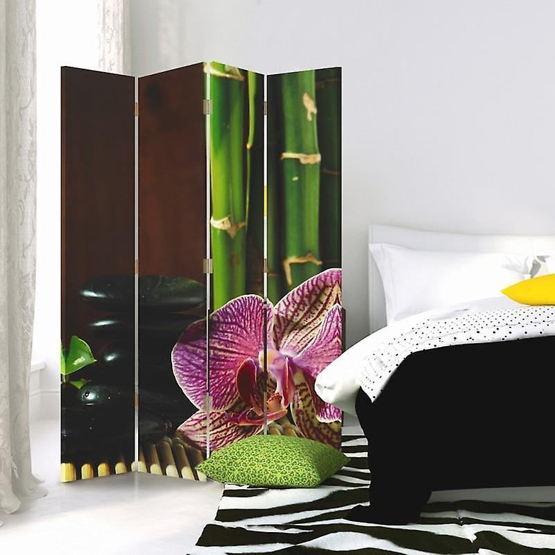 Diviseur de chambre, 4 panneaux, double-sided, Rotatable 360, toile, Zen 5