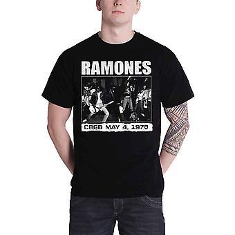 Camiseta de Ramones en vivo en CBGB Nueva York 1978 oficial Mens negro nuevo