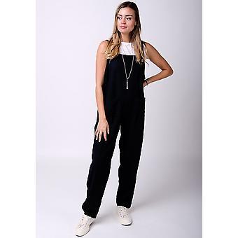 Roxanne linnen jumpsuit in zwart