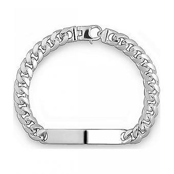 Quinn-Zilveren armband met gravure plaat-0281643