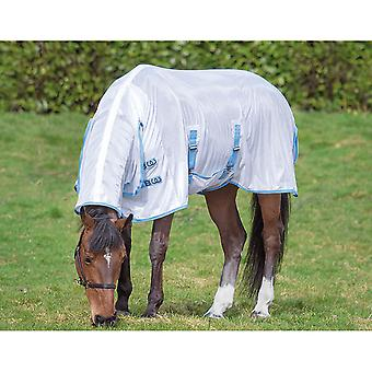 Bridleway Fly Sheet  Horse Rug - White/navy