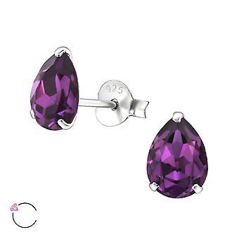 Träne Kristall aus Swarovski® - 925 Sterlingsilber + Crystal Ohrstecker - W29503x