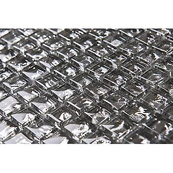 Mosaic D-sign Crystal Silver 30x30