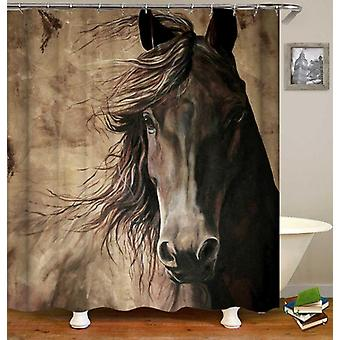 Noble Black Horse dusj Curtain