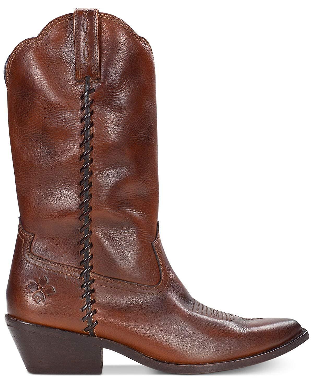 Patricia Nash Bergamo damskie skórzane wskazał Toe buty kowbojskie połowy łydki NQJPI