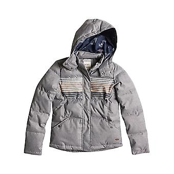 Roxy Freedom Jacket Stripe Fashion Jacket in Charcoal Heather
