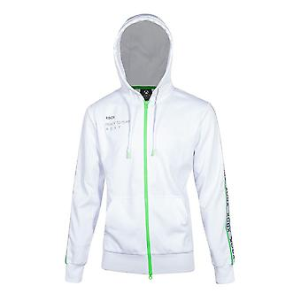 Microsoft Xbox Full Length Zipper Hoodie Male Medium White (HD201336XBX-M)