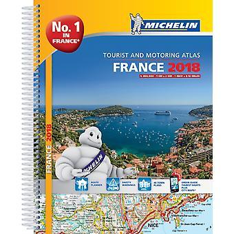 France 2018  Tourist  Motoring atlas A4Spiral