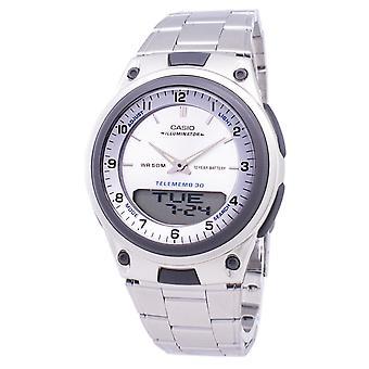 Casio Analog Digital Telememo Iluminador AW-80D-7AVDF AW80D-7AVDF Men's Reloj