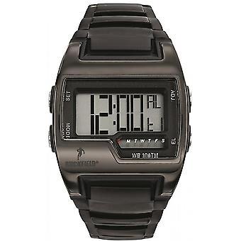 Watch Ruckfield 685037 - Multifunction Digital Bo tier Silicone Black Bracelet M tal Black Men