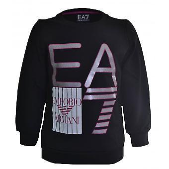 EA7 Girls Black Sweatshirt