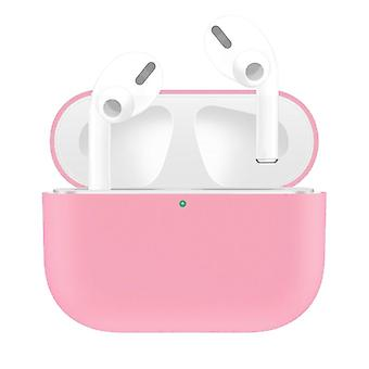 For AirPods Pro Case, Silicone Protective Earphone Cover, Dust-proof, Dirt-resistant, Pink