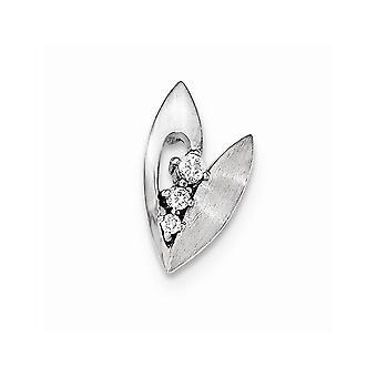 925 Sterling Silber poliert und gebürstet CZ Zirkonia simuliert Diamant Folie Schmuck Geschenke für Frauen