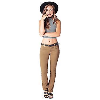 Bebop Women's Bootcut Pant, Khaki, Size 15, Stretch Cotton, Khaki, Size 15.0