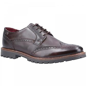 Base London Mens Grundy Brown Vasket Skinn Blonder Opp Wing Tips Brogue Sko